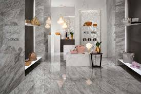 porcelain tiles inspired by marble for elegant showrooms and exhibition spaces