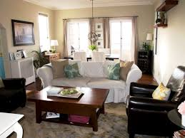 Living Room With Dining Table White Lacquered Pine Wood Dining Table Living And Dining Room