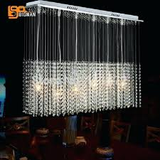 linear crystal chandelier new modern linear crystal chandelier lamp rectangular crystal light fixtures for home swarovski