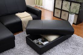 Beautiful Black Leather Ottoman Coffee Table Coffee Table Black Storage  Leather Ottoman Coffee Table With