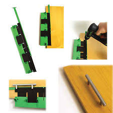 kitchen door handle jig quickly accurately mark your centre holes for drilling