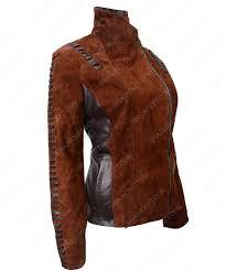 womens western suede biker leather jacket