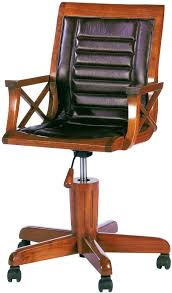 desk chair nautical desk chair star halifax starbay classic style black leather cover nature wooden