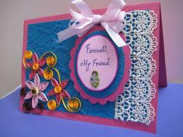 Invitation Card Design Handmade Handmade Farewell Card Its So Beautiful Handmade