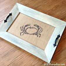 diy serving tray from picture frame tutorial to make a coastal picture frame serving tray with