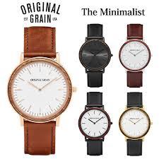 gise original grain originalgrain clock wood watch men gap dis uni leather the minimalist rakuten global market