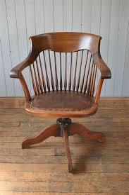 vintage wooden office chair. Antique Vintage Wooden Captain S Swivel Office Desk Chair O