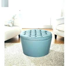 round leather tufted ottoman. Teal Ottoman Coffee Table Round Leather Tufted B