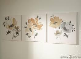 flowered canvas wall art