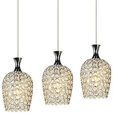 DINGGUu0026trade; Modern 3 Lights Crystal Pendant Lighting For Kitchen Island  And Dining Room
