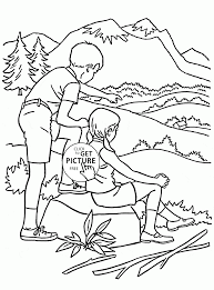 Nature In Summer Coloring Page For Kids Seasons Coloring Pages