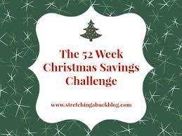 Christmas Savings Plan Chart 52 Week Christmas Savings Challenge Stretching A Buck