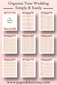 Wedding Planning Checklist Wedding Planner Printable Wedding Planner Book Printable Planning 24