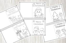 Find the right printable christmas card to color for your kids here. Printable Christmas Cards For Kids