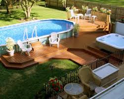 home swimming pools above ground. Above Ground Pool With Deck Home Swimming Pools