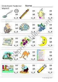 The letters oo can make two sounds. Circle Sound Puzzle 5 Phonics The Oo Sound Esl Worksheet By David Lisgo