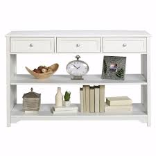 Home Decorators Collection Oxford White Storage Console Table-2914510410 -  The Depot