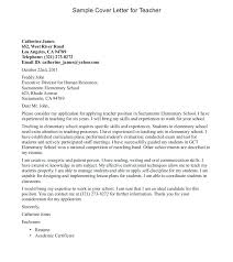 Collection Of Solutions Cover Letter For Teaching Post Sample