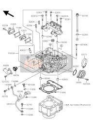 kawasaki klx250 2013 spare parts msp cylinder head for 2013 kawasaki klx250