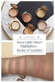 Becca Light Chaser Bellini Becca Light Chaser Highlighters Review Swatches