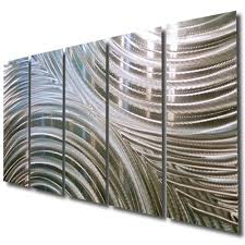 image of modern metal wall art decor wide