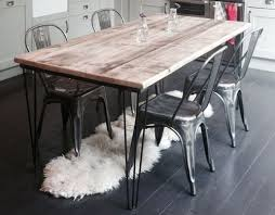 vine industrial dining table with hairpin legs