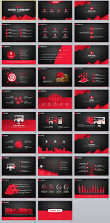 microsoft powerpoint slideshow templates 29 red black work summary powerpoint templates creative