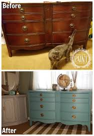 For Love of the Paint Before and After Vintage Bowed Front