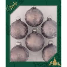 Weihnachtskugeln Zinn Eislack 7 Cm
