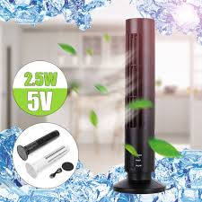 details about portable mini usb tower fan cooling bladeless air conditioner for pc laptop desk