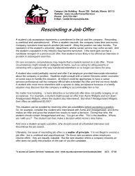 rescind letter employer withdraw job offer letter sample good letter rescinded