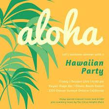 Palm Trees Hawaiian Party Invitation Templates By Canva
