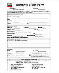 Claim Report Template Claim Form Template Warranty Product Certificate Word