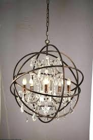 restoration hardware chandelier lighting vintage pendant lamp iron orb rustic loft light globe style camino installation