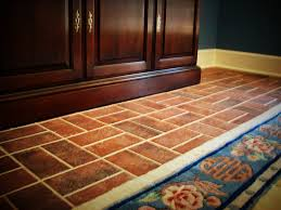 Red Brick Flooring Kitchen Vinyl Brick Kitchen Flooring All About Flooring Designs