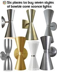 mid century outdoor lighting. bowtie cone light sconces mid century outdoor lighting