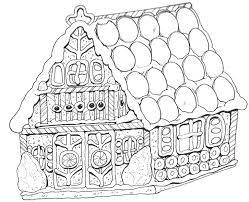 Gingerbread House Color Pages Gingerbread House Color Pages