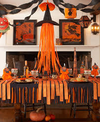decorating furniture with paper. Furniture Halloween Table Fascinating Crepe Paper Back To Basics Black Of Concept And Decorations Popular Decorating With