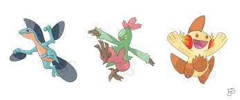 Type swapped second evolutions of gen 3 starter Pokemon!: pokemon