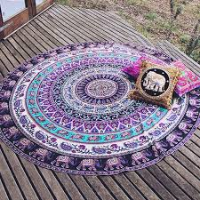 specical round indian elephant towel scarve fashion mandala tapestry beach picnic throw rug blanket polyester cotton beach towel decorative towels dish