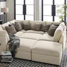 pit sectional couches. Plain Couches Buy Custom Upholstered UShaped Sectional At Bassett Furniture Large Home  Furnishings Selection To Pit Couches