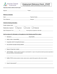 reference check form templates template employment reference questions template