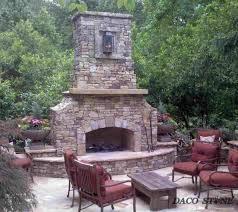 diy outdoor stone fireplace kit