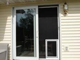 sliding screen door with dog door built in screen mounted pet doors petsafe pet screen door