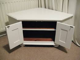 white corner tv stand. nice solid wooden corner tv stand or storage unit in white tv