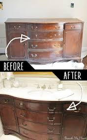Surprising Make Bathroom Vanity 4 A Out Of An Old Dresser Ideas