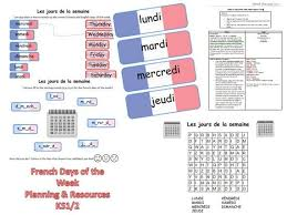 French Days Of The Week French Days Of The Week Lesson Plan And By