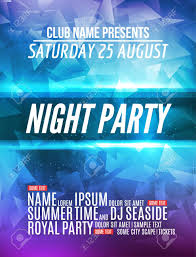 Modern Club Music Party Template Night Dance Party Flyer Brochure