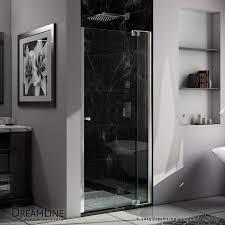 DreamLine Allure 36-in to 37-in W Frameless Chrome Pivot Shower Door