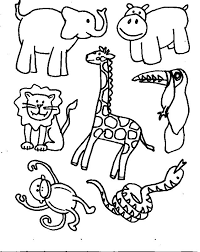 Free Printable Kids Jungle Coloring Pages Zoo Animal Coloring